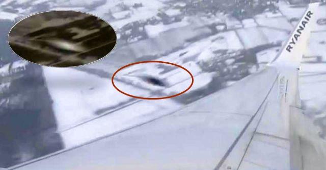 ufo drone near collission plane